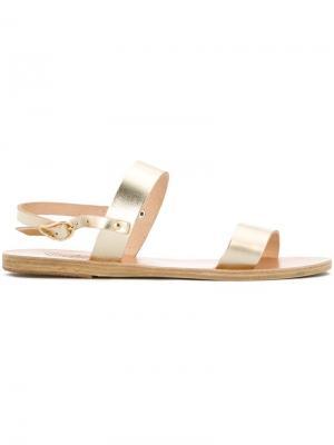 Сандалии Clio Ancient Greek Sandals. Цвет: жёлтый и оранжевый
