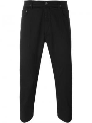 Укороченные брюки прямого кроя Rick Owens DRKSHDW. Цвет: чёрный