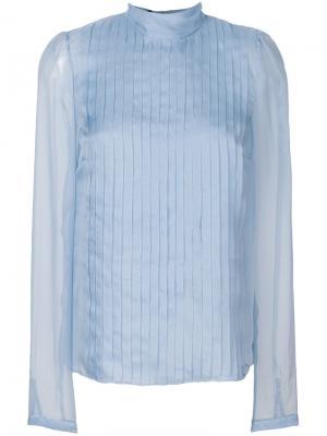 Рубашка со складками Rochas. Цвет: синий