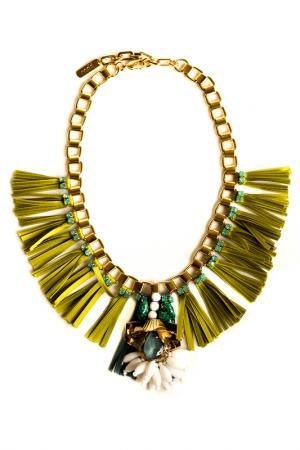 Ожерелье RADA. Цвет: зеленый