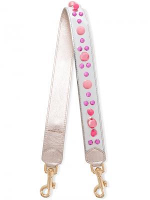 Лямка для сумки декорированная бусинами Dolce & Gabbana. Цвет: металлический