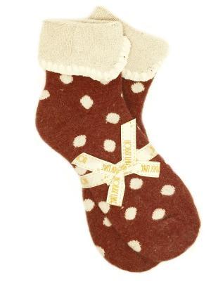 Носки шерстяные HOBBY LINE. Цвет: темно-коричневый, темно-красный