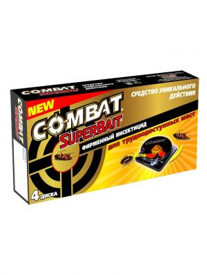 Combat Super Bait инсектицид (уп.4) NEW. Цвет: зеленый