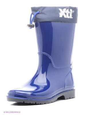 Резиновые сапоги XTI. Цвет: темно-синий
