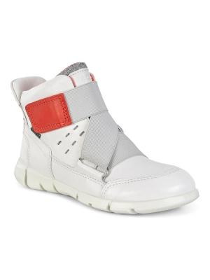 Ботинки ECCO. Цвет: белый, коралловый