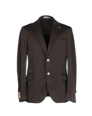 Пиджак MANUEL RITZ WHITE. Цвет: темно-коричневый