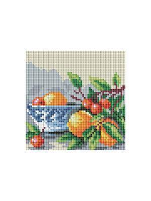 Мозаичные картины. Абрикосы и вишня (044-ST-PS) Белоснежка. Цвет: белый