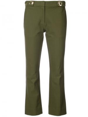 Укороченные брюки клеш с отделкой Derek Lam 10 Crosby. Цвет: зелёный