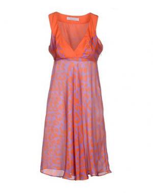 Короткое платье FISICO. Цвет: ржаво-коричневый