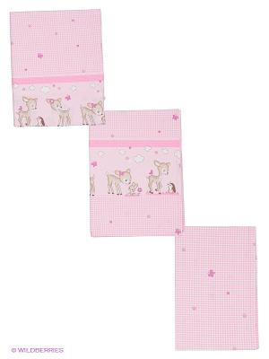 Постельное белье Оленята Тайна снов. Цвет: розовый, бежевый