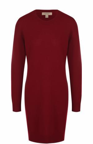 Шерстяное мини-платье с длинным рукавом Burberry. Цвет: бордовый
