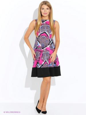 Платье Oodji. Цвет: фуксия