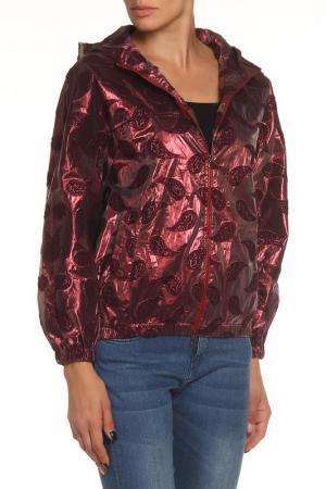 Куртка-ветровка NATALIA PICARIELLO. Цвет: красный