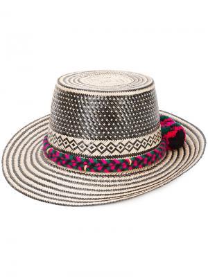 Шляпа с помпоном  Adina Lunar Diety Yosuzi. Цвет: телесный