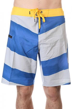 Шорты пляжные  Vee Three Rocket Blue Lost. Цвет: серый,синий,желтый