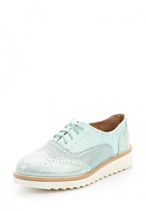 Ботинки Ideal Shoes. Цвет: бирюзовый