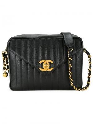 Сумка на плечо Jumbo XL Mademoiselle Chanel Vintage. Цвет: чёрный