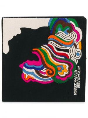 Клатч-книга Milton Glaser Olympia Le-Tan. Цвет: чёрный