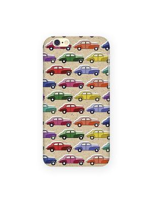 Чехол для IPhone 6 Цветные машинки Mitya Veselkov. Цвет: желтый, красный, зеленый