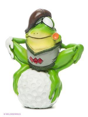 Фигурка-лягушка Гольфист Гамлет The Comical World of Stratford. Цвет: зеленый, белый, коричневый