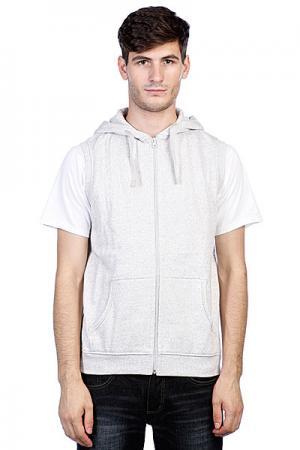 Толстовка  Melange Sleevless Zip Hoody Grey Urban Classics. Цвет: серый