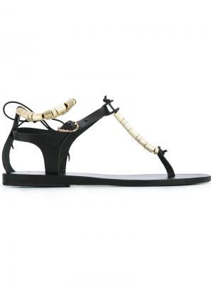 Босоножки Chrysso Column Beads Ancient Greek Sandals. Цвет: чёрный