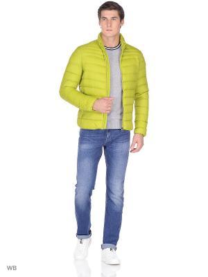 Пуховик GEOX. Цвет: желтый, салатовый
