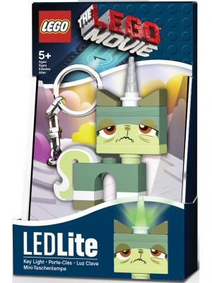 Брелок-фонарик для ключей LEGO MOVIE - Queasy Kitty. Цвет: светло-зеленый, серо-зеленый, белый