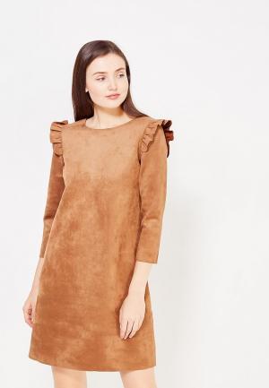 Платье Cortefiel. Цвет: коричневый
