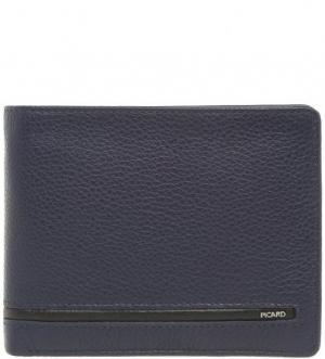 Синее портмоне из натуральной кожи Picard. Цвет: синий