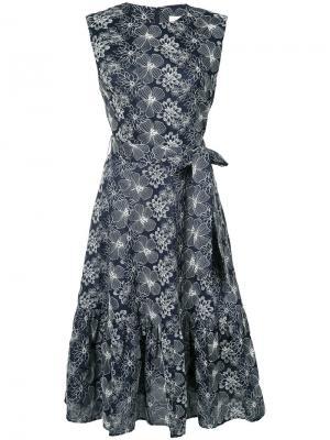 Платье с цветочным узором Co. Цвет: синий
