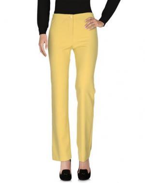 Повседневные брюки CHILI PEPPERS. Цвет: желтый