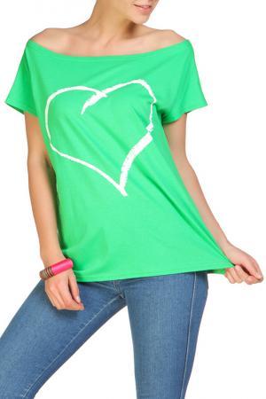 Футболка Rocawear. Цвет: зеленый
