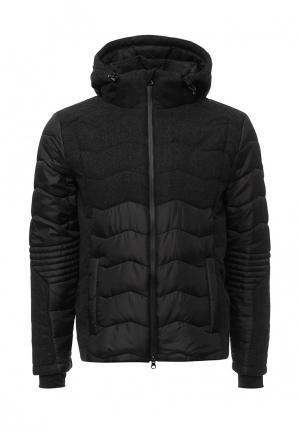 Куртка утепленная EA7. Цвет: черный
