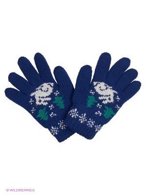 Перчатки R&I. Цвет: индиго