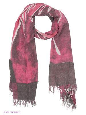 Платок Модные истории. Цвет: серый, лиловый, розовый