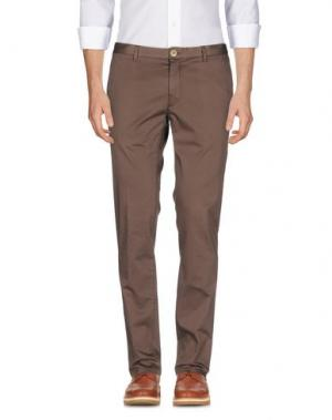 Повседневные брюки DOMENICO TAGLIENTE. Цвет: какао