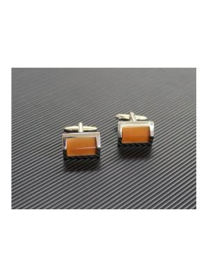 Запонки lawiggi. Цвет: оранжевый