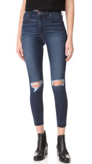 Укороченные джинсы-скинни Charlie с высокой посадкой Joe's Jeans. Цвет: умеренно-синий с эффектом поношенности
