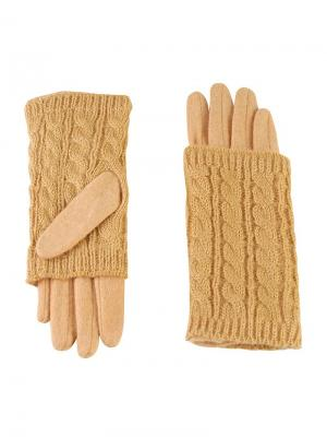 Перчатки Sabellino. Цвет: желтый