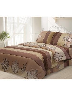 Комплект постельного белья, Французский трюфель Волшебная ночь. Цвет: коричневый