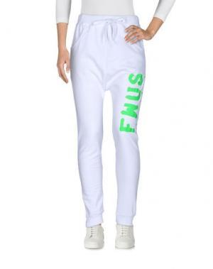 Повседневные брюки FOLLOW US. Цвет: белый