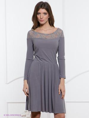 Платье Festival. Цвет: серый