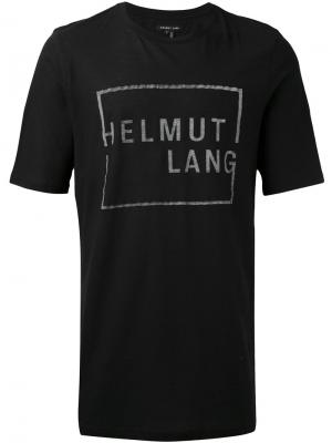 Футболка с принтом-логотипом Helmut Lang. Цвет: чёрный