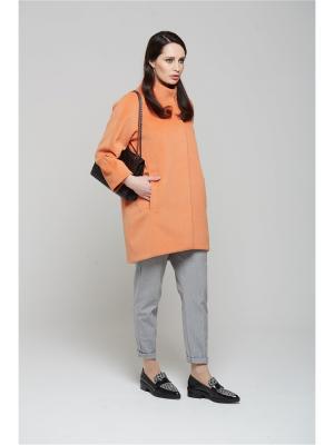 Пальто KLARIS. Цвет: оранжевый