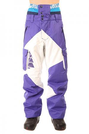 Штаны сноубордические  Partner Purple/White Picture Organic. Цвет: фиолетовый,белый