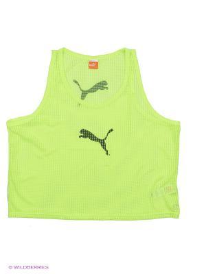 Майка спортивная Bib Puma. Цвет: желтый