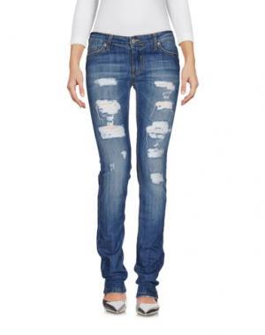 Джинсовые брюки XBAKKO. Цвет: синий
