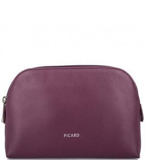 Фиолетовая косметичка с карманами Picard. Цвет: фиолетовый