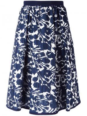 Юбка с цветочным узором IM Isola Marras I'M. Цвет: синий